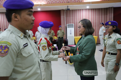 Serah Terima Jabatan Komandan  Menwa Satuan UPN Veteran Jakarta Periode 2020-2021